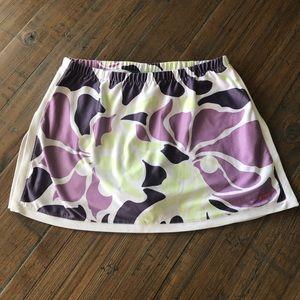 Nike S Dri-Fit floral athletic skort